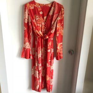 hot sale amazon best sale NWT FREE PEOPLE MIXED PRINT TWIST DRESS NWT